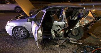 Ankara'da kaza, 1'i ağır 4 yaralı var