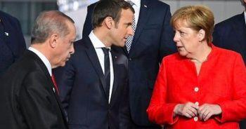 Cumhurbaşkanı Erdoğan, Merkel ve Macron ile telefonda görüştü