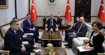 Cumhurbaşkanı Yardımcısı Oktay, Özbekistan Yatırım ve Dış Ticaret Bakanı Umrzakov'u kabul etti