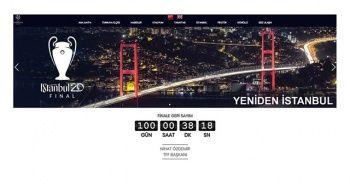 İstanbul'daki 2020 UEFA Şampiyonlar Ligi Finali'nin internet sitesi açıldı