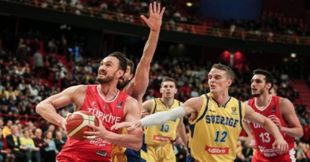 A Milli Basketbol Takımı, İsveç'e 87-80 mağlup oldu