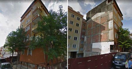 Bahçelievler'de çöken 7 katlı binanın yıkılmadan önceki hali ortaya çıktı