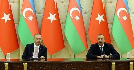 Cumhurbaşkanı Erdoğan: Azerbaycan ile ticaret hacmimizi 2023'te 15 milyar dolara çıkaracağız