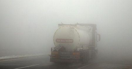 Erzincan'ı sis kapladı