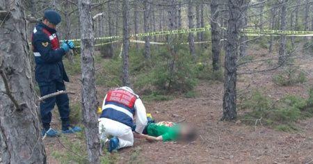 Genç kadın nişanlısını ormanda boğazını keserek öldürdü