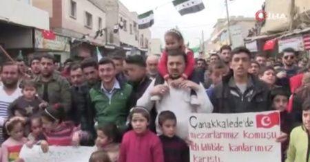 Halep halkından Türkiye'ye destek