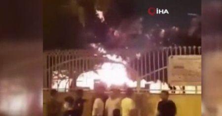 İran'da korona hastalarının tutulduğu iddia edilen sağlık ocağı ateşe verildi