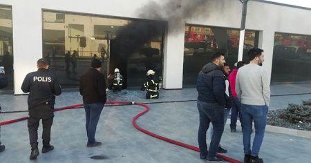 İş yerinde yangın paniği