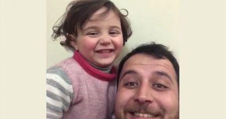 Küçük kızına bomba seslerini oyun diye anlattı!