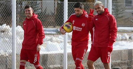 Sivasspor'da neşeli antrenman