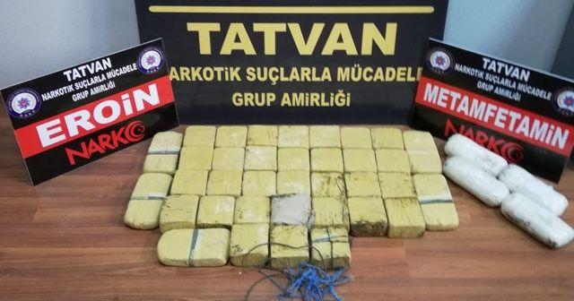 Bitlis'te 19 kilo eroin 2,5 kilo metanfetamin ele geçirildi