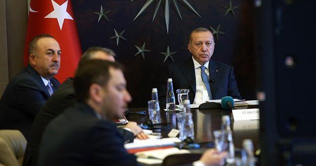 Cumhurbaşkanı Erdoğan, G20 Liderler Olağanüstü Zirvesi'ne video konferans yöntemiyle katıldı