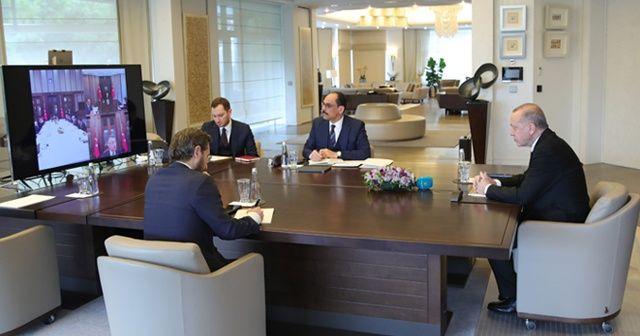 Cumhurbaşkanı Erdoğan, infaz yasasını video konferansta görüştü