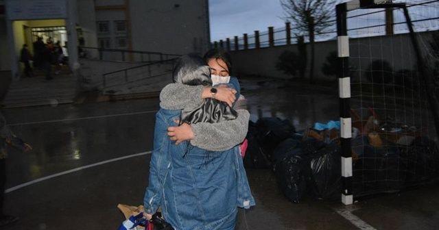 Gaziantep'te gözetim süresi biten öğrenciler ailelerine kavuştu