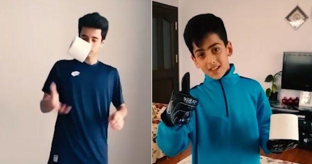 Genç sporcuların 'Evde kal Elazığ' klibine Merih Demiral'dan destek