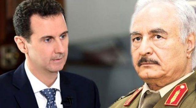 Katil Esad ile darbeci Hafter'den iş birliği