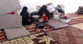 Bombardımandan kaçan Suriyeliler mezarlıkta yaşıyor