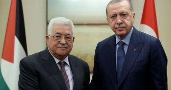 Cumhurbaşkanı Erdoğan, Filistin Devlet Başkanı Abbas ile görüştü