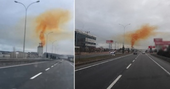 Kütahya'da sarı duman paniği
