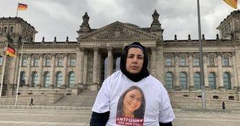PKK tarafından kızı kaçırılan Maide T, Alman Meclisi önünde eylem yaptı