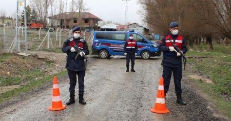 İki şehirde birer köy karantina altına alındı