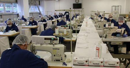 Jandarmadan günde 100 bin maske üretimi