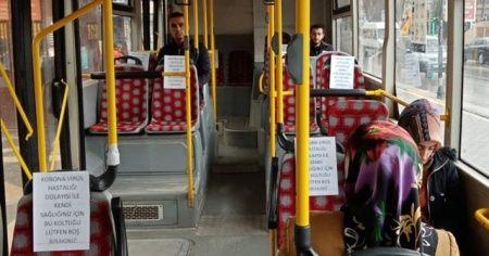 """Otobüslerde """"sosyal mesafe"""" düzenlemesi"""