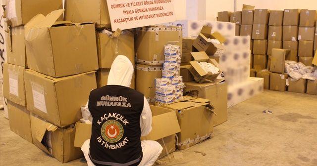 1 milyon 200 bin lira değerinde tıbbi koruyucu malzeme ele geçirildi