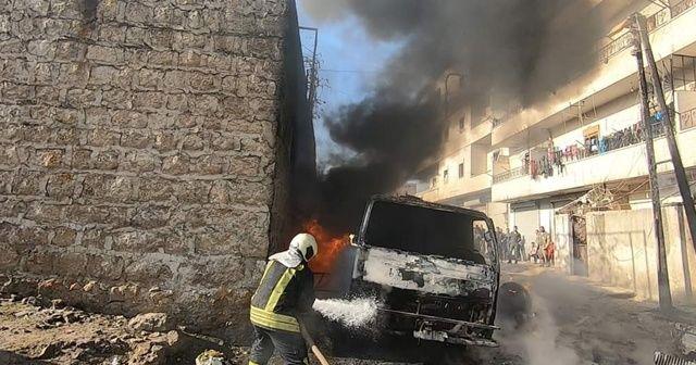 Afrin'de yakıt tankeri patladı