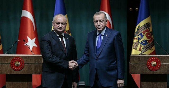 Cumhurbaşkanı Erdoğan Moldova Cumhurbaşkanı Dodon ile görüştü