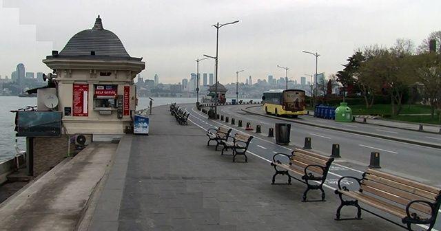 Koronavirüs nedeniyle İstanbul'un sahilleri boş kaldı