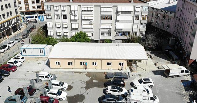 Pendik Devlet Hastanesi'nin geçici ek hizmet binası tamamlandı