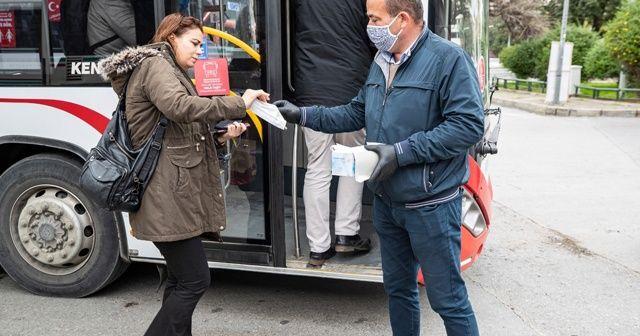 Toplu ulaşımda ücretsiz maske desteği