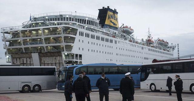 Yunanistan'daki El. Venizelos gemisinde Kovid-19 testi negatif çıkanların tahliyesi tamamlandı