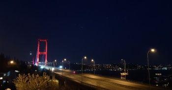 Boş kalan 15 Temmuz Şehitler Köprüsü havadan görüntülendi