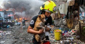 Filipinler'de gecekondu mahallesinde yangın: 500 aile evsiz kaldı