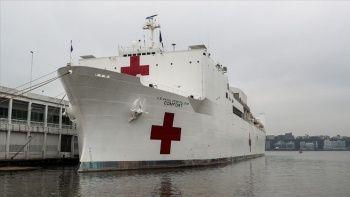 NYT: 'Askeri hastane gemisine Kovid-19'lu hastaların alınmaması kabul edilemez'