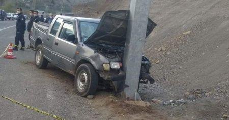 Artvin'de trafik kazası: 1 ölü,1 yaralı
