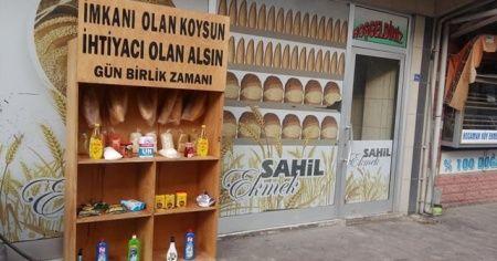 Askıda gıda ve ekmek kampanyası başlatıldı