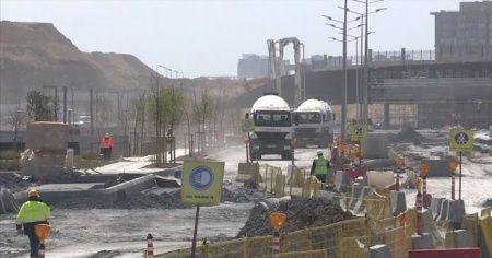 Başakşehir İkitelli Şehir Hastanesi yollarında çalışmalar aralıksız sürüyor