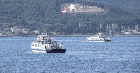 Gökçeada'ya tüm feribot seferleri iptal edildi