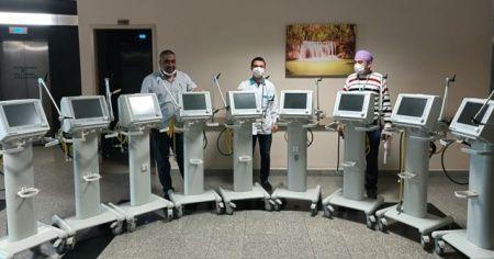 Hayırsever vatandaşlardan hastaneye solunum cihazı bağışı
