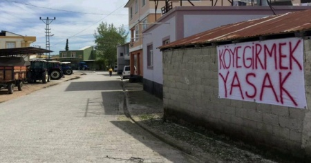 Köylülerden gönüllü karantina: Köye girmek yasak