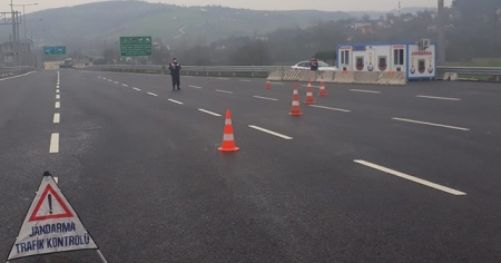 Kuzey Marmara Otoyolu'nda giriş ve çıkışlar kapatıldı