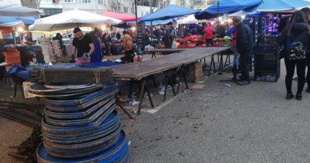 Pazarda tezgâhlar 3 saat içinde boşaldı