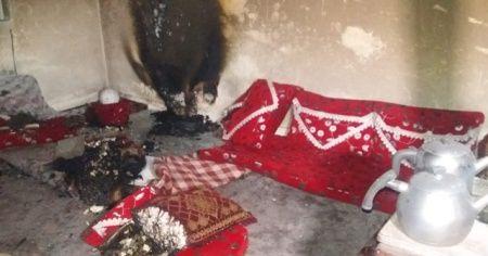 Sobadan çıkan yangın 4 kişilik aileyi evsiz bıraktı