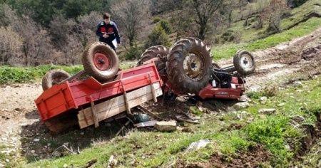 Traktör kazası: 1 ölü, 1 yaralı