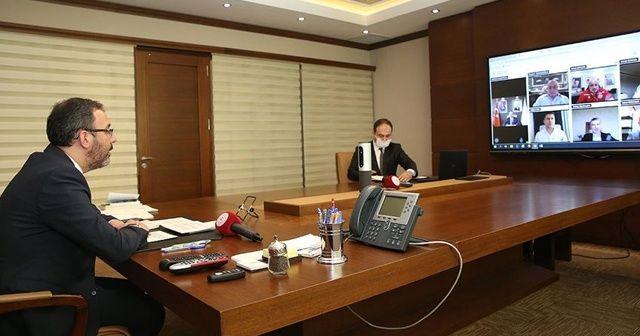 Bakan Kasapoğlu, TFF Başkanı Özdemir ve alt liglerin kulüp başkanlarıyla görüştü