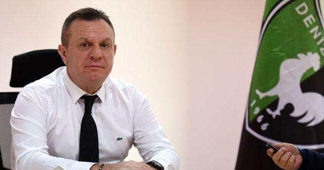 Denizlispor Başkanı Çetin: Şahsi fikrim liglerin oynanmaması yönünde