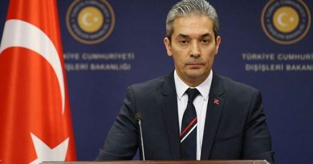 Dışişleri Bakanlığı Sözcüsü Aksoy: Yunanistan'ın ahdi kara hududumuzu ihlali tedbirler alınarak anında önlenmiştir